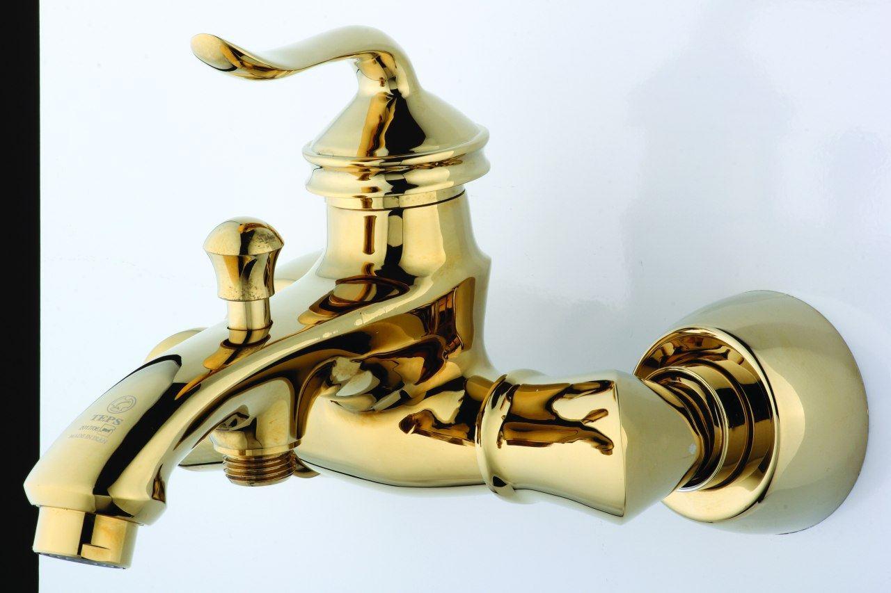 شیرالات اهرمی مدل لئوس طلایی تپس